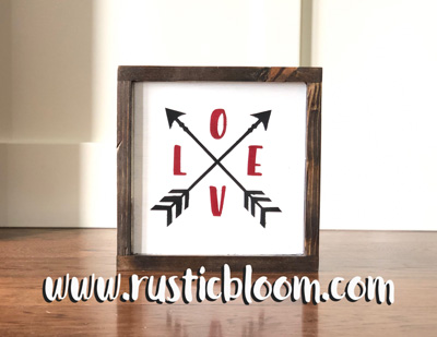 Framed 10x10 - Love Arrows