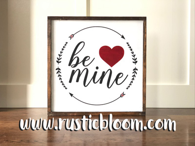 Framed Sign 20x20 - Be mine