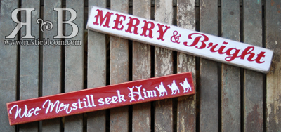Christmas Mini Signs