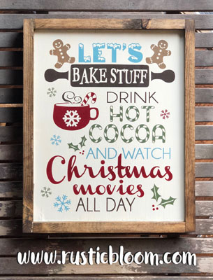 Framed Sign 13x16 - Let's Bake Stuff