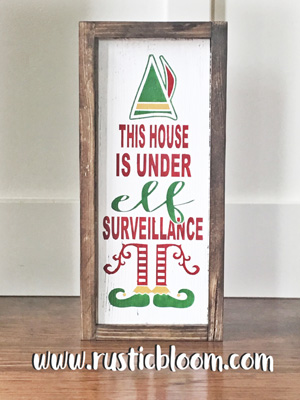 Framed Sign 7x15 - Elf Surveillance
