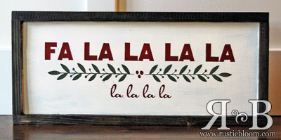 Framed Sign 20x9 - Fa La La La La