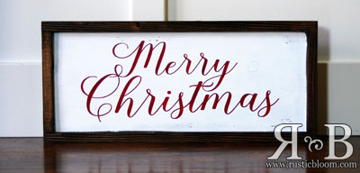 Framed Sign 20x9 - Merry Christmas