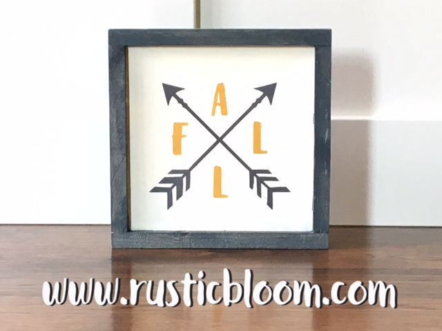 Framed Sign 10x10 - Fall arrows