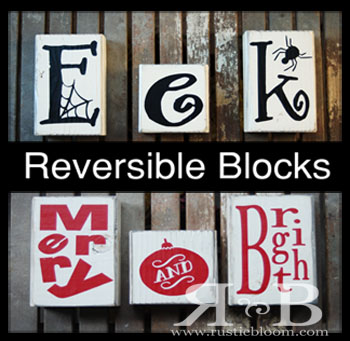Reversible Blocks - Eek / Merry and Bright