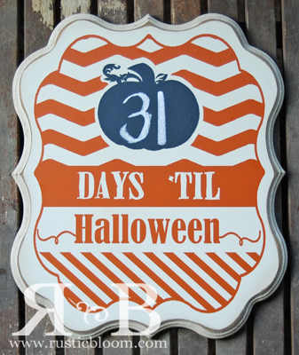 Shaped Plaque - Halloween Countdown