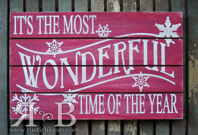 slat sign wonderful - Christmas Pallet Signs
