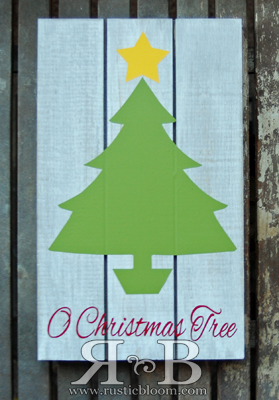Slat Sign - O Christmas Tree