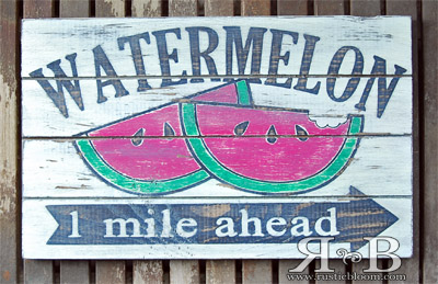 Slat Sign - Watermelon
