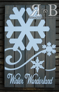 Slat Sign - Winter Wonderland