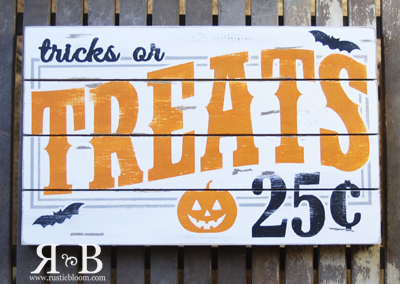 Slat Sign - Tricks or Treats