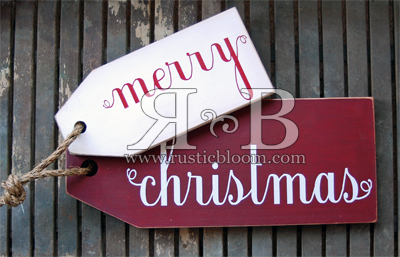 Tag Set - merry christmas