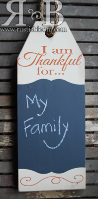 Tag Single - Thankful for Chalkboard