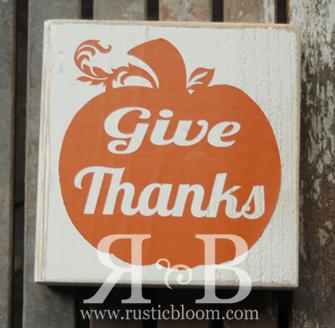 Vinyl Block - Give Thanks