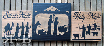 Vinyl Block - Nativity Single Block (NOT THE SET)