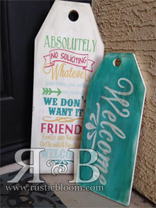 Tag Set - No Soliciting and Welcome Set